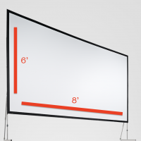 Fast-Fold Screen 6'x8' Rental San Francisco Bay Area
