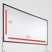 Fast-Fold Screen 7.5'x10' Rental San Francisco Bay Area