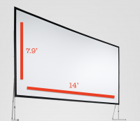 Fast-Fold Screen 7.9'x14' Rental San Francisco Bay Area
