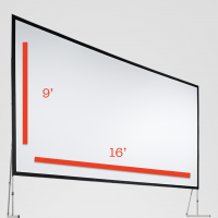 Fast-Fold Screen 9'x16' Rental San Francisco Bay Area
